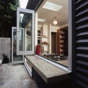 An example of the way The Concrete Doctors floor, house, interior design, window, black, gray