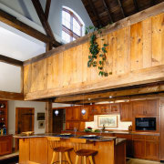 view of this kitchen designed by david stimmel beam, ceiling, interior design, living room, wood, brown, orange
