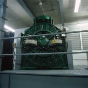 MX100 machine in lift machinery room. - MX100 iron, machine, metal, motor vehicle, black, gray