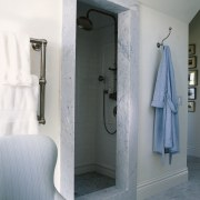 view of the seperate shower room this bathroom bathroom, floor, interior design, plumbing fixture, room, gray