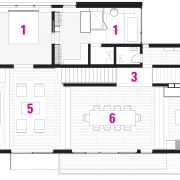 A legend plan of the home. - A architecture, area, building, design, elevation, facade, floor plan, line, plan, product, product design, structure, white