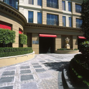landscaping and pavers were supplied by baron forge architecture, building, condominium, courtyard, estate, facade, house, neighbourhood, property, real estate, residential area, walkway, black