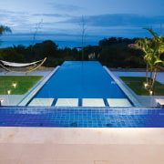 View of this infinity-edge pool built by Frontier estate, leisure, leisure centre, lighting, property, real estate, resort, sky, swimming pool, villa, water, blue