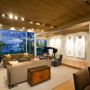 view of the formali living area looking out ceiling, estate, interior design, living room, lobby, real estate, brown