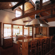 A view of some interior and exterior paints beam, ceiling, interior design, property, real estate, black