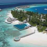 An aerial view of the entire complex. - atoll, bay, caribbean, coastal and oceanic landforms, inlet, island, lagoon, leisure, resort, resort town, swimming pool, tourism, tropics, vacation, water resources, teal