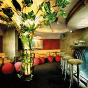 view of the interior of the zouk nightclub flower, interior design, black