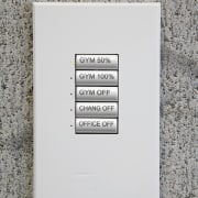 A view of the lighting system. - A font, product design, text, white, gray