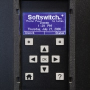 A view of the lighting system. - A electronic device, electronics, font, telephony, black