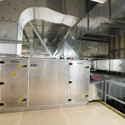 A view of an Airpak air-handling unit. - machine, gray