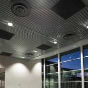 A view of the air conditioning system. - architecture, ceiling, daylighting, daytime, lighting, black, gray