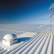 A view of the Dimond roofing. - A atmosphere of earth, cloud, daytime, energy, fixed link, horizon, line, sea, sky, wind, blue, gray