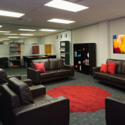 Cleancorp works in with all its commercial clients furniture, interior design, room, black, gray