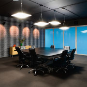 Cleancorp only uses eco-friendly products. - Cleancorp only ceiling, interior design, office, black