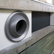 A view of the air conditioning system. - product design, gray, black