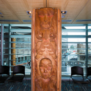 A view of a Maori carving. - A art, carving, wood