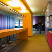 view of bright kitchen cabinetry manufactured by lifestyle architecture, ceiling, interior design, lobby, office, brown