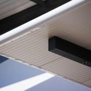 A view of the Dimond roofing. - A architecture, daylighting, facade, lighting, line, product design, roof, window, gray
