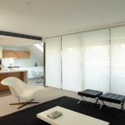 view of the interior with the white motorised ceiling, furniture, interior design, real estate, gray, white