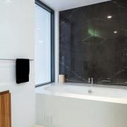 A view of some bathroom ware from Bathe. bathroom, bathroom accessory, floor, glass, interior design, property, room, white, black