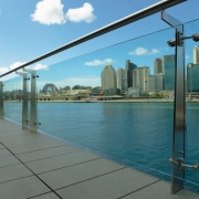 A view of some glazing by Architectual Glass city, fixed link, real estate, sea, sky, water, waterway, teal, gray
