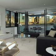 view of the interiorof this saunders wharf apartment interior design, living room, property, real estate, room, gray, black