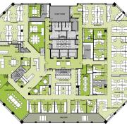 floor plan of the Accenture Australia Office - area, design, elevation, floor plan, land lot, line, mixed use, neighbourhood, plan, real estate, residential area, suburb, urban design, yellow, white