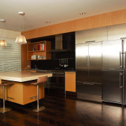 A view of some furniture from Neo Design. cabinetry, countertop, floor, flooring, hardwood, interior design, kitchen, real estate, room, wood, wood flooring, black, brown