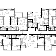 Floor plan of the apartment complex - Floor architecture, area, black and white, design, drawing, elevation, facade, floor plan, font, line, monochrome, plan, product design, residential area, structure, text, urban design, white