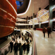 An interior view of the lobby area. - architecture, building, shopping mall, tourist attraction, black