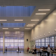 A view of the studion stage. - A airport terminal, architecture, ceiling, convention center, daylighting, infrastructure, institution, leisure centre, line, structure, gray