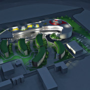plan view of the proposed Schio Central Park automotive design, motor vehicle, product design, structure, technology, blue