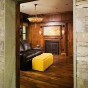 A view of the library, wooden flooring and floor, flooring, hardwood, interior design, wall, wood, wood flooring, brown, orange