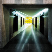 A view of the lifts. - A view architecture, darkness, light, black