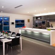 View of a kitchen which features Smeg appliances interior design, kitchen, gray