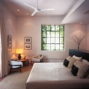 View of the master bedroom featuring raw silk architecture, bedroom, ceiling, daylighting, floor, home, house, interior design, living room, real estate, room, wall, window, gray