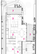 Floor plan of this home - Floor plan angle, architecture, area, design, diagram, drawing, floor plan, line, plan, product design, residential area, structure, technical drawing, white