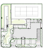 Plan view of the property showing the house area, drawing, floor plan, land lot, line, plan, product design, technical drawing, white