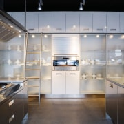A view of some kitchen appliances from BSH cabinetry, countertop, cuisine classique, interior design, kitchen, gray, black