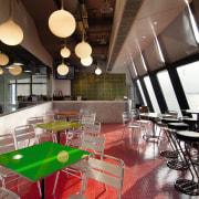 A view of the new MMoser-designed Hong Kong interior design, restaurant, black