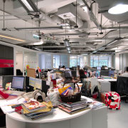 A view of the new MMoser-designed Hong Kong office, gray