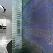 A view of the new MMoser-designed Hong Kong architecture, ceiling, daylighting, floor, glass, interior design, wall, gray