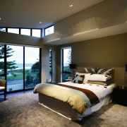 A view of some interior design by The architecture, bedroom, ceiling, estate, home, interior design, real estate, room, suite, wall, window, brown