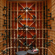 A view of a wine cellar by Baywick's furniture, interior design, wall, window, wine cellar, wood, brown