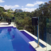 View of the pool and Outdoor entertaining area architecture, backyard, estate, house, leisure, property, real estate, sky, swimming pool, vacation, villa, water, teal