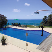 View of the pool and Outdoor entertaining area estate, home, house, leisure, property, real estate, resort, swimming pool, vacation, villa, teal
