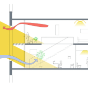 A view of this new innovative design of angle, area, diagram, line, product design, yellow, white
