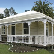 Country lodge painted in Resene shades - Country canopy, cottage, estate, farmhouse, home, house, porch, real estate, siding, brown