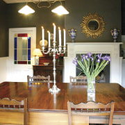 Country lodge painted in Resene shades dining room dining room, furniture, home, interior design, living room, room, table, brown