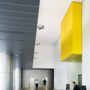 View of the foyer of the brisbane square architecture, ceiling, daylighting, glass, house, interior design, product design, white, gray